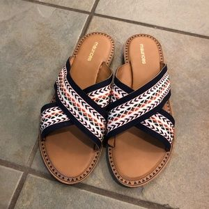Maurices slide sandals size 8